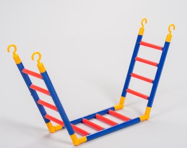 ZooPaul Vogel Knickleiter mit zweier Knick Spielzeug Sittiche Leiter XXL Kletter