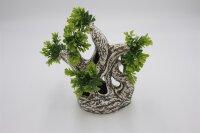 Deko Aquarium Baum mit Grün 25x13x24cm (L/B/H)