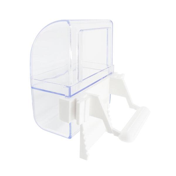 2er-Set ZooPaul Futter- oder Wassernapf für Vogelkäfig weiß